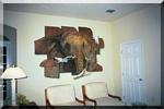 elephant in stone trompe l'oeil mural